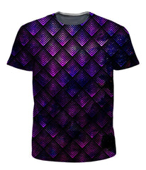 Set 4 Lyfe Galactic Dragon Scale Purple T-Shirt and Shorts Combo