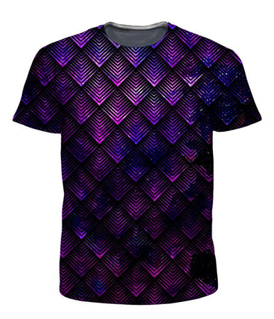 Noctum X Truth - Galactic Dragon Scale Purple T-Shirt and Shorts Combo