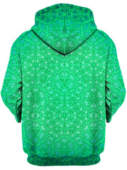 Set 4 Lyfe Green Cosmic Stargrid Unisex Zip-Up Hoodie