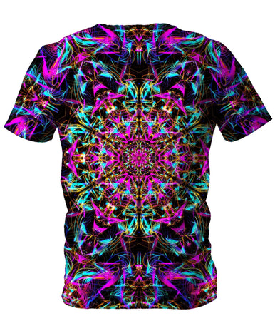 Set 4 Lyfe - Neon Mandala Men's T-Shirt