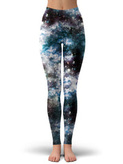Set 4 Lyfe Party God Galaxy Crop Top and Leggings with PM 2.5 Face Mask Combo - iEDM