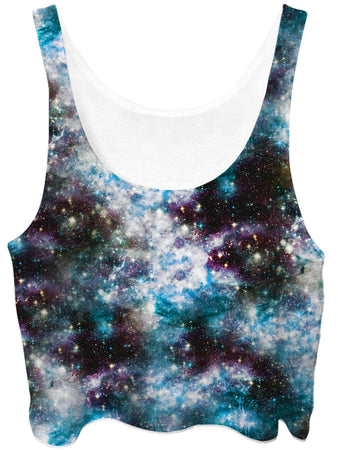Set 4 Lyfe - Party God Galaxy Crop Top (Ready To Ship)