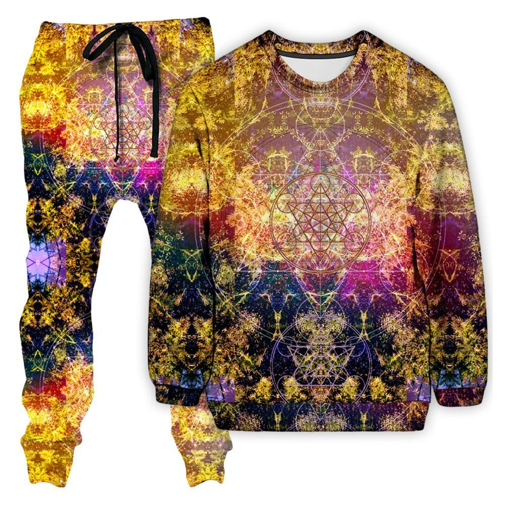 Set 4 Lyfe Pineal Metatron Sweatshirt and Joggers Combo - iEDM