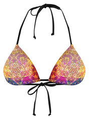 Set 4 Lyfe Pineal Metatron White String Bikini Top