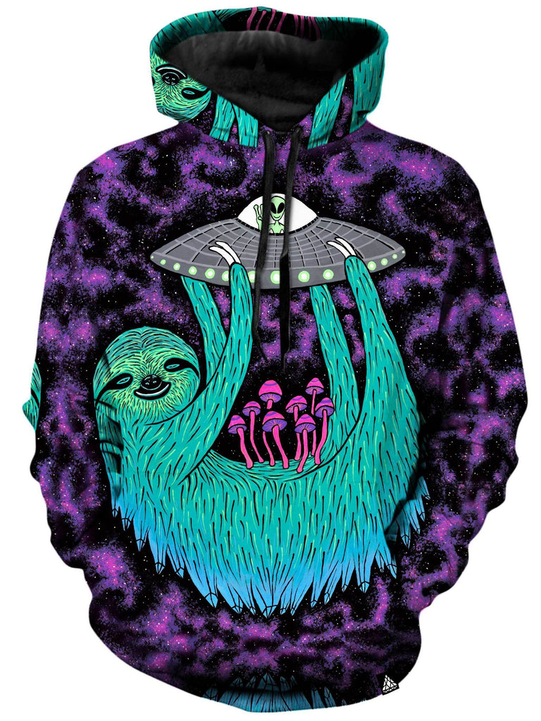 Set 4 Lyfe Sloth Abduction Unisex Hoodie - iEDM