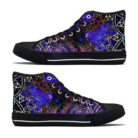 Shoes - Fractal High-Top Sneakers