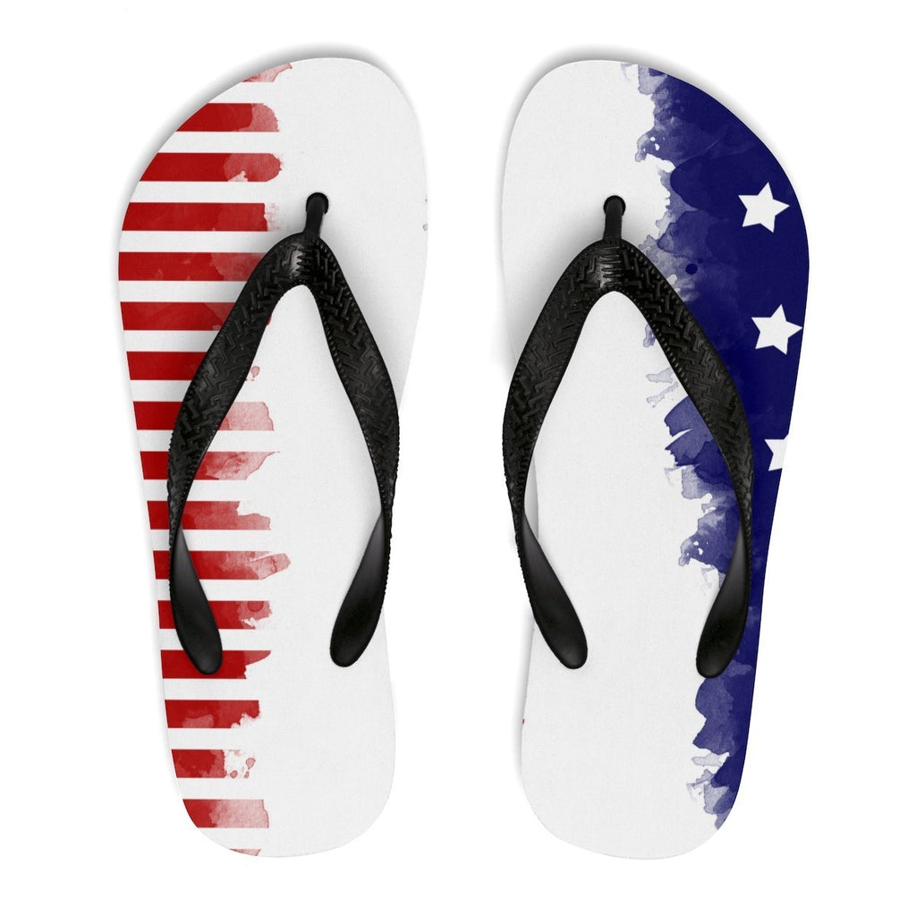 Shoes - Star and Stripes Flip-Flops - Unisex