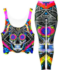 Svenja Jodicke Suger Skull Crop Top and Leggings Combo - iEDM