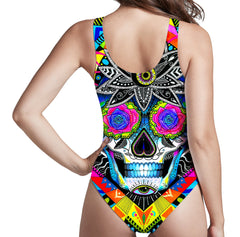 Svenja Jodicke Suger Skull Low Cut One-Piece Swimsuit