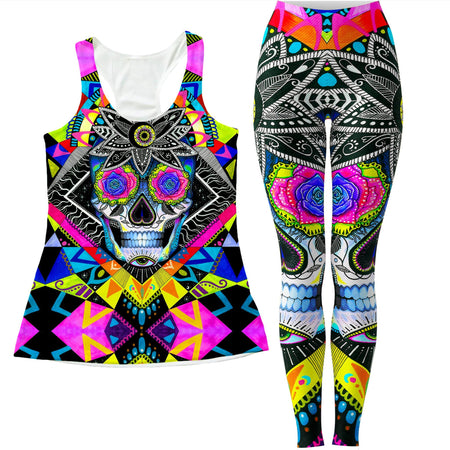 Svenja Jodicke - Suger Skull Women's Tank and Leggings Combo