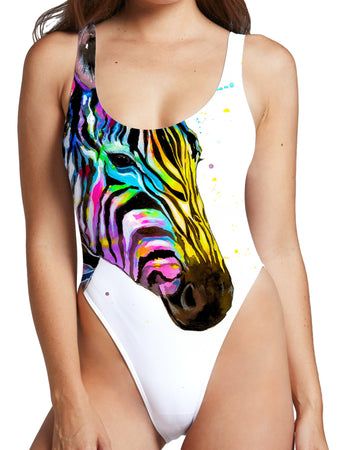 Svenja Jodicke - Zebra Bunt High Cut One-Piece Swimsuit