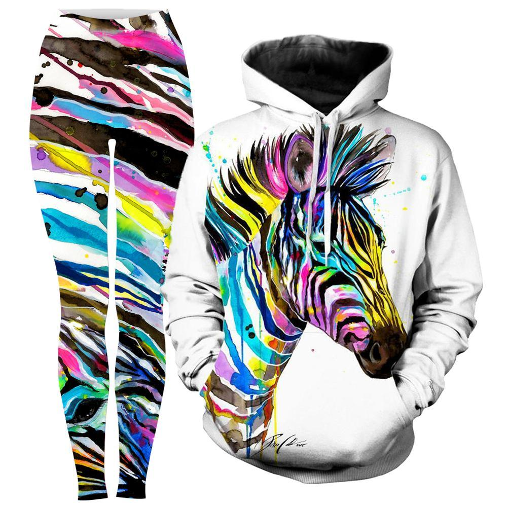 Svenja Jodicke - Zebra Bunt Hoodie and Leggings Combo