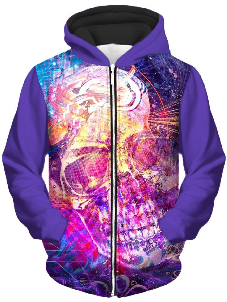 Technodrome 22135614 Unisex Zip-Up Hoodie (Ready To Ship)