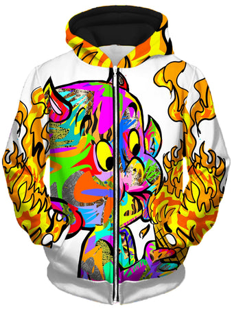 Technodrome - Devil Unisex Zip-Up Hoodie