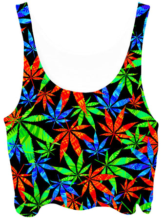 Technodrome - Weed Crop Top
