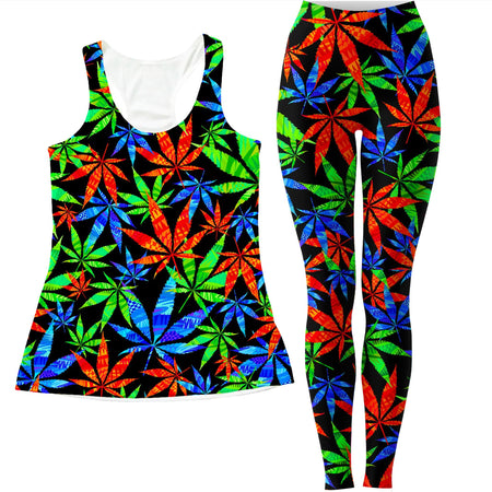Technodrome - Weed Women's Tank and Leggings Combo