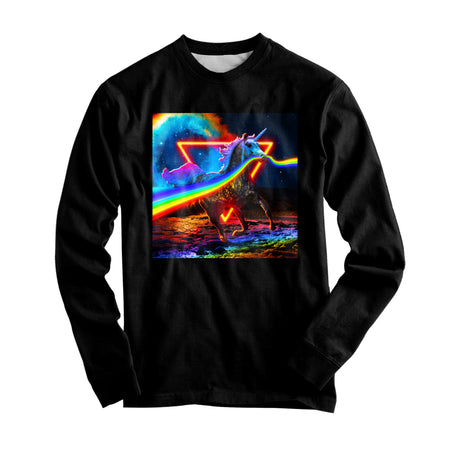 Think Lumi - Rainbow Unicorn Graphic Long Sleeve
