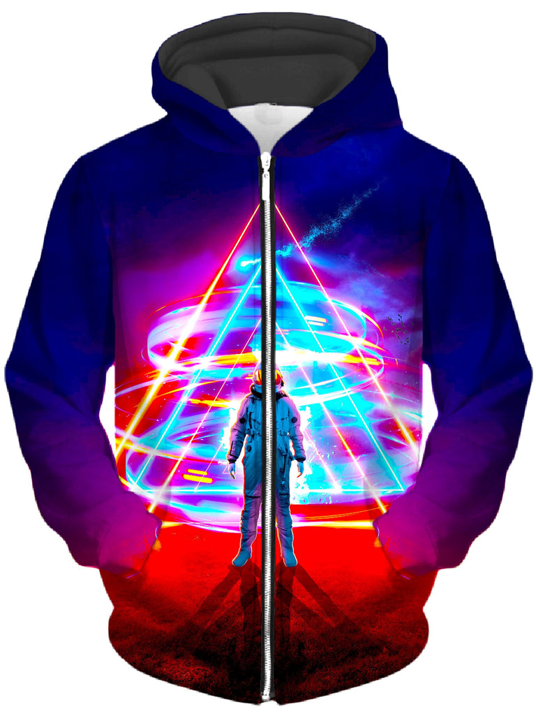 Think Lumi Triangler Unisex Zip-Up Hoodie