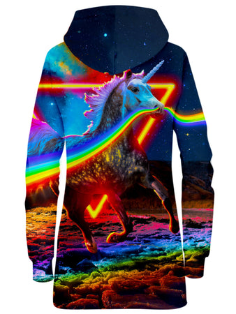 Think Lumi - Rainbow Unicorn Hoodie Dress