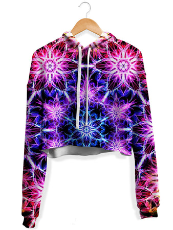 Yantrart Design - Awakening Fleece Crop Hoodie