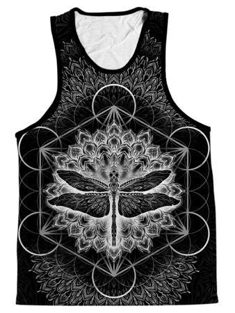 Yantrart Design - Dragonfly Black Men's Tank