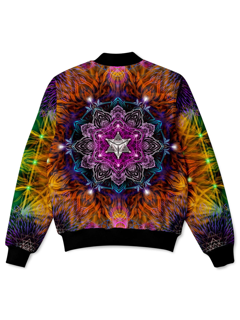 Yantrart Design Geometric Vibes Bomber Jacket (Ready To Ship) - iEDM