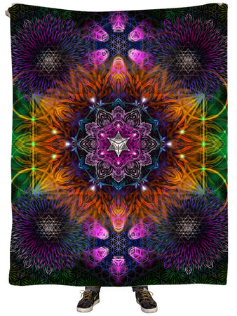 Yantrart Design - Geometric Vibes Plush Blanket