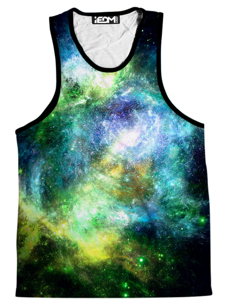 Yantrart Design Green Psychedelic Nebula Men