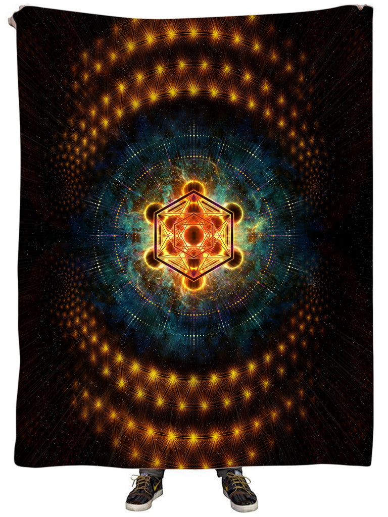 Yantrart Design Metacosmos Enlightenment Plush Blanket - iEDM