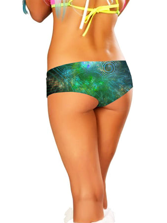 Yantrart Design - Unfolded Cosmos Booty Shorts