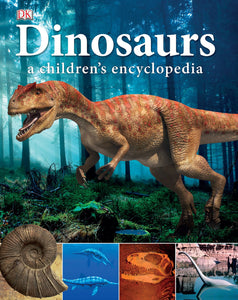 Children's book with realistic representations of dinosaurs and interesting facts of prehistoric life.