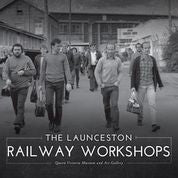 Book cover photograph of railway workers leaving work in the late 1980's.