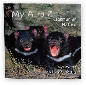 Photograph of three devil cubs on cover.