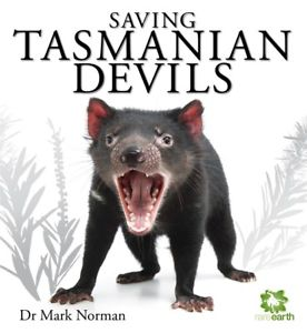 Tasmanian Devil mouth open.