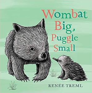 Illustrated baby wombat and echidna.