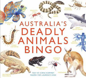 Illustrated animals of Australia.