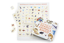 Load image into Gallery viewer, Bingo game board with Australian animals.