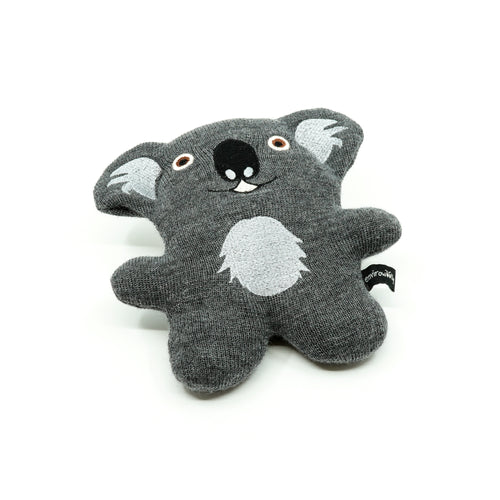 plush Koala made from knitted material with stitched features.