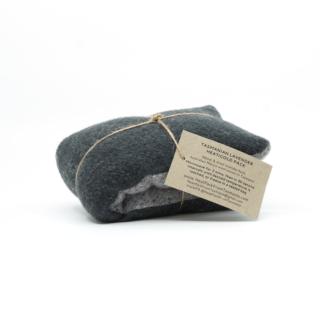 Two tone grey wool heat pack.