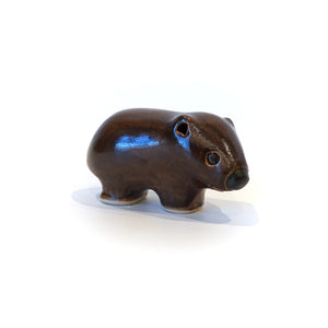 Stylised ceramic wombat collectible ornament.