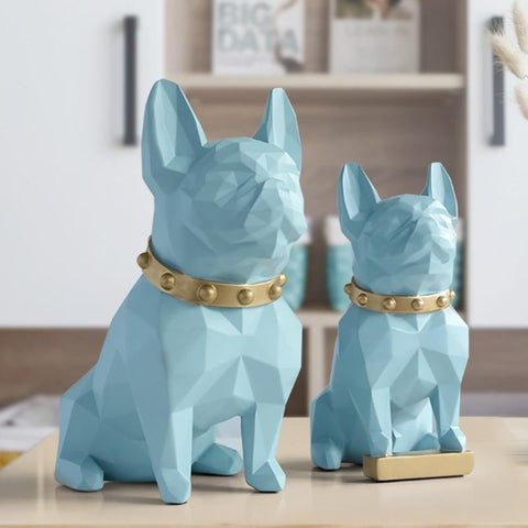 Statuette bouledogue 4D Art contemporain