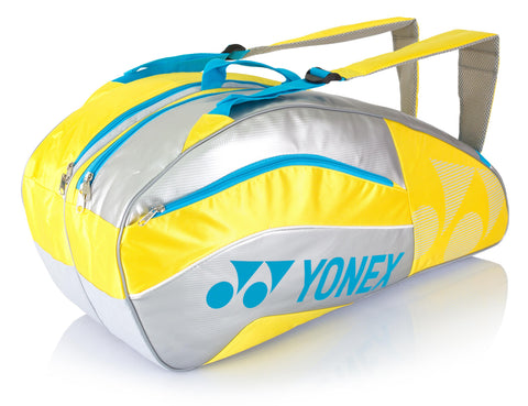 Yonex 8526EX Badminton & Tennis 6 Pack Racquet Bag Yellow (2015)