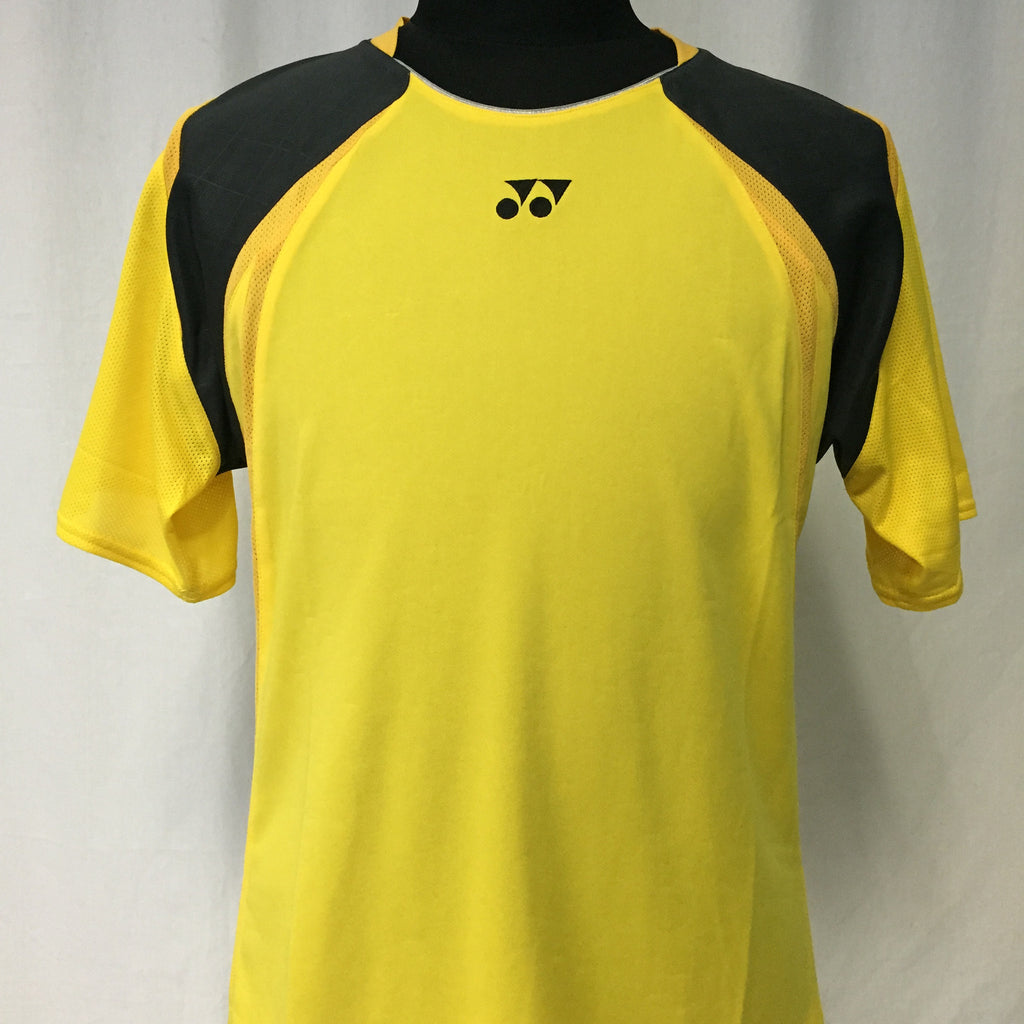 Yonex Men's Badminton Performance Shirt TW1600EX Yellow
