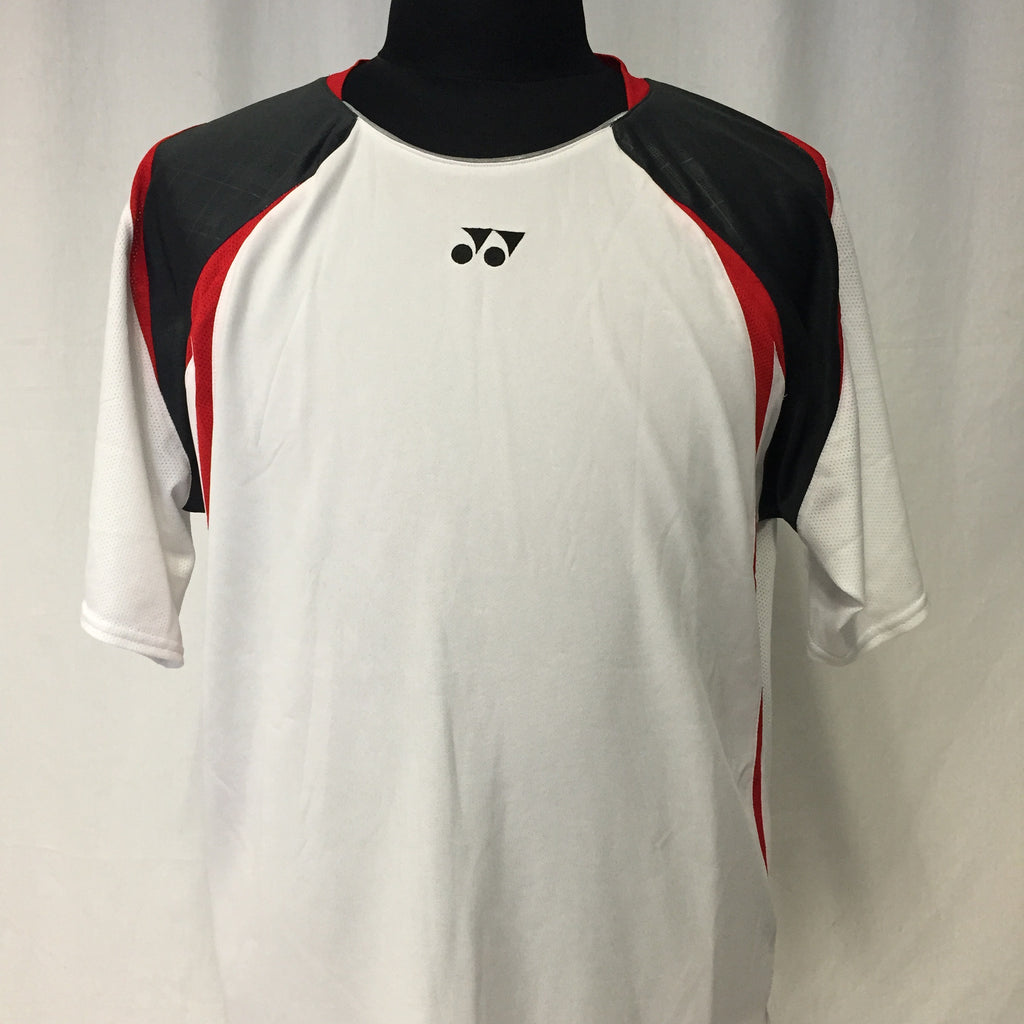 Yonex Men's Badminton Performance Shirt TW1600EX White/Iron Gray