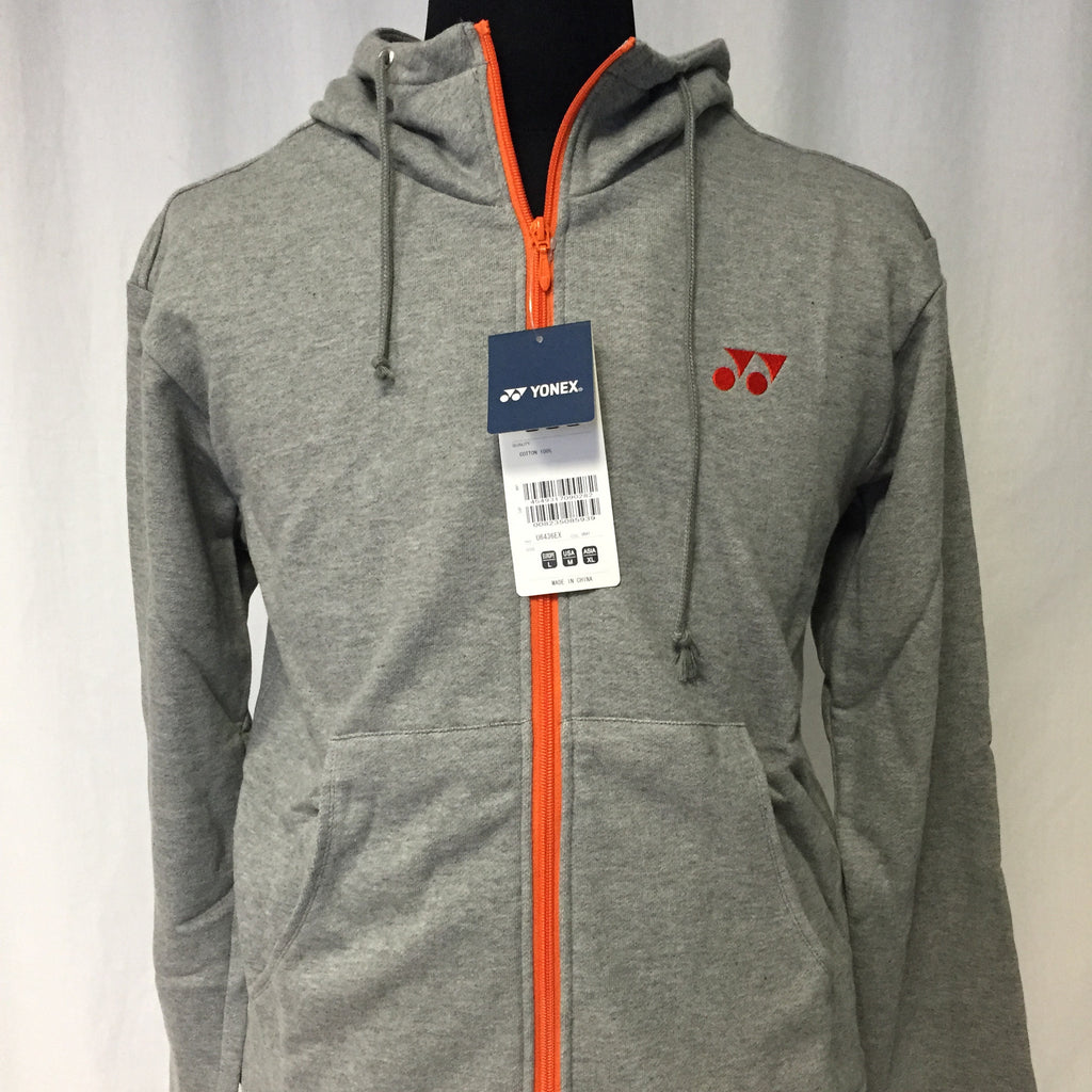 Yonex Performance Zip Hooded Sweatshirt / Hoodie (Gray, Navy Blue)