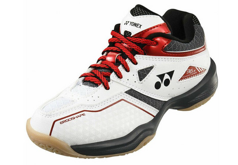 Yonex Power Cushion 36 Junior Badminton Shoes (White/Red)