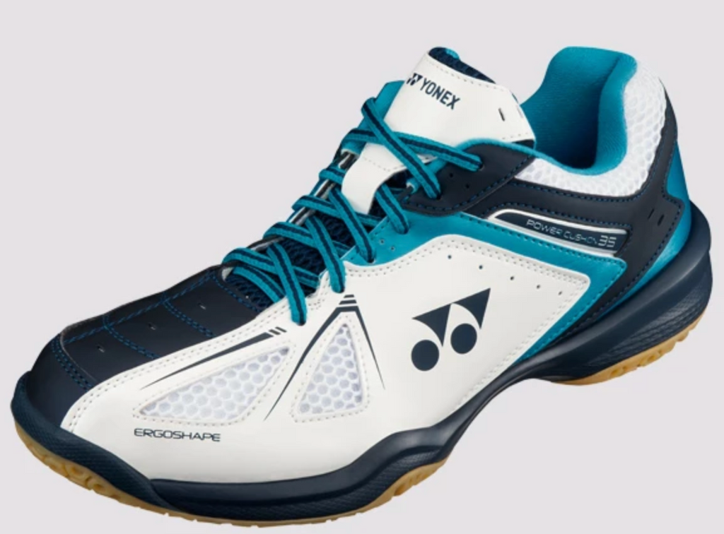 Yonex Power Cushion 35 Men's Badminton Shoes White/Sky Blue
