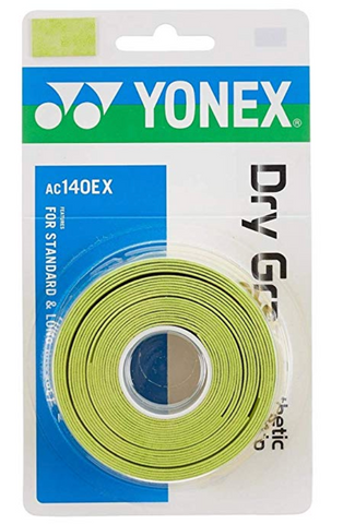 YONEX Dry GRAP Tennis Overgrip - 3 Pack Citrus Green