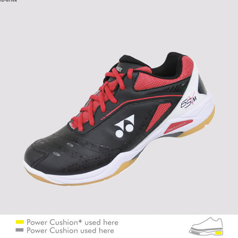 Yonex Power Cushion SHB-65X Badminton Shoes Black Red