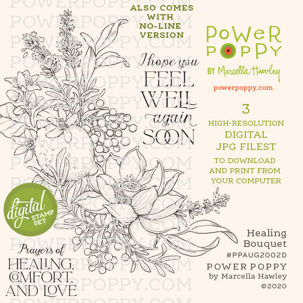 Healing Bouquet Digital Stamp Set